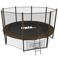 Батут UNIX line 10 ft Black&Brown outside